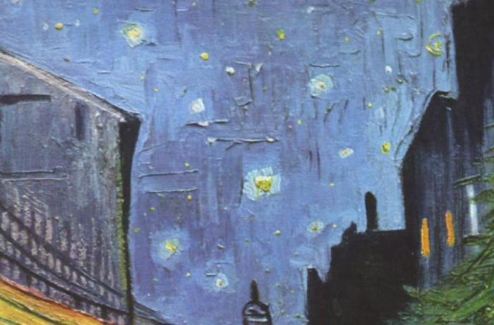 """Night Cafe Terrace"" af Van Gogh. Lys søvn om natten"
